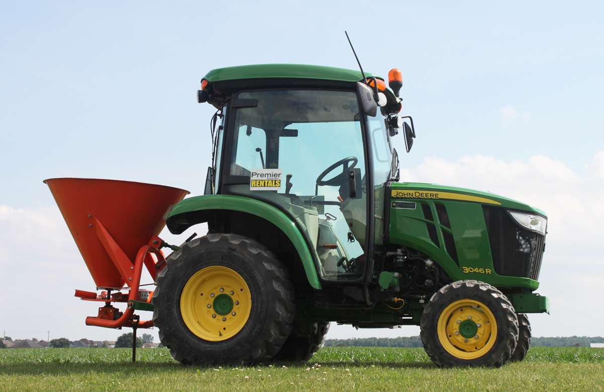 Broadcast Spreaders For Tractors : Premier equipment rentals broadcast spreaders