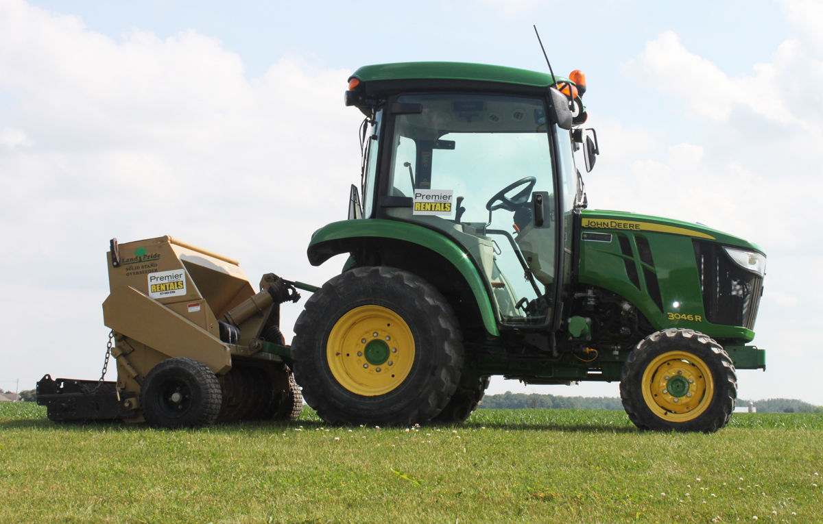 Compact Tractor Seeder : Premier equipment rentals compact tractor attachments